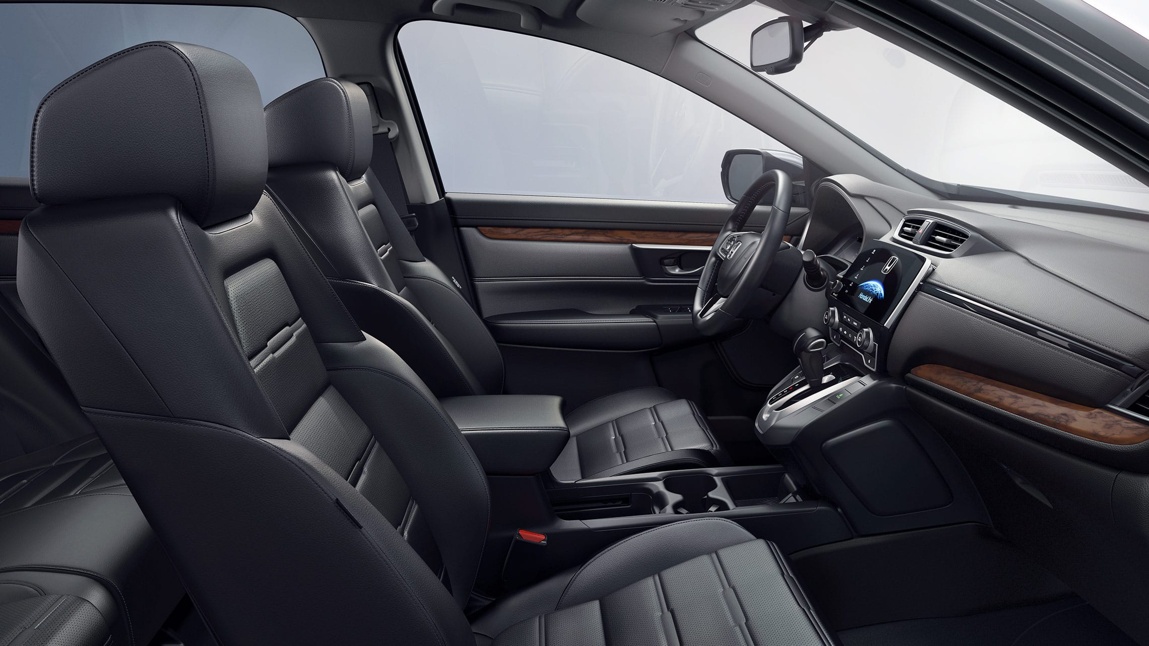 2019 Honda CR-V Touring with leather-trimmed interior.