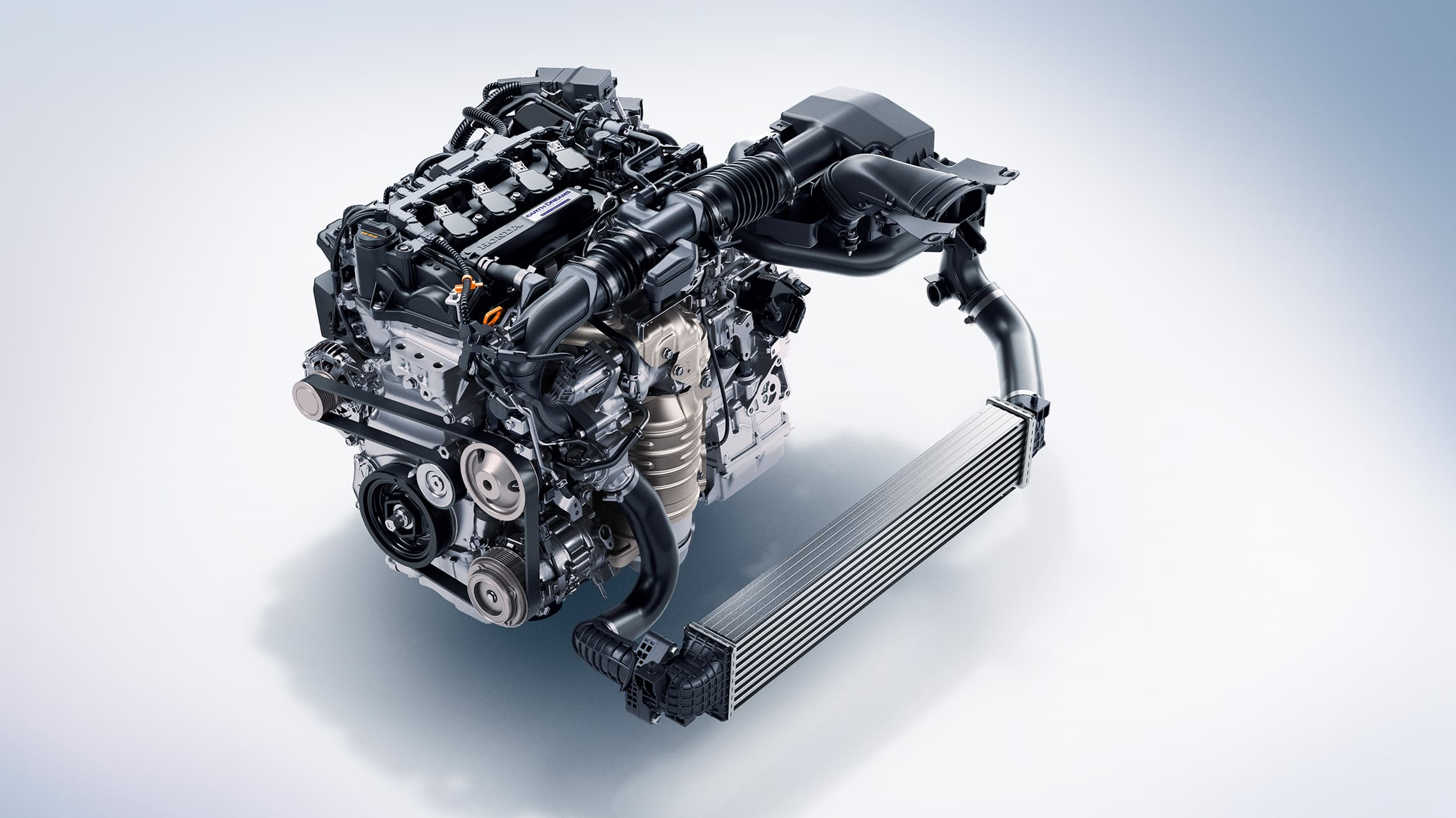Detalle del motor turboalimentado de 1.5litros en el Honda Accord2020.