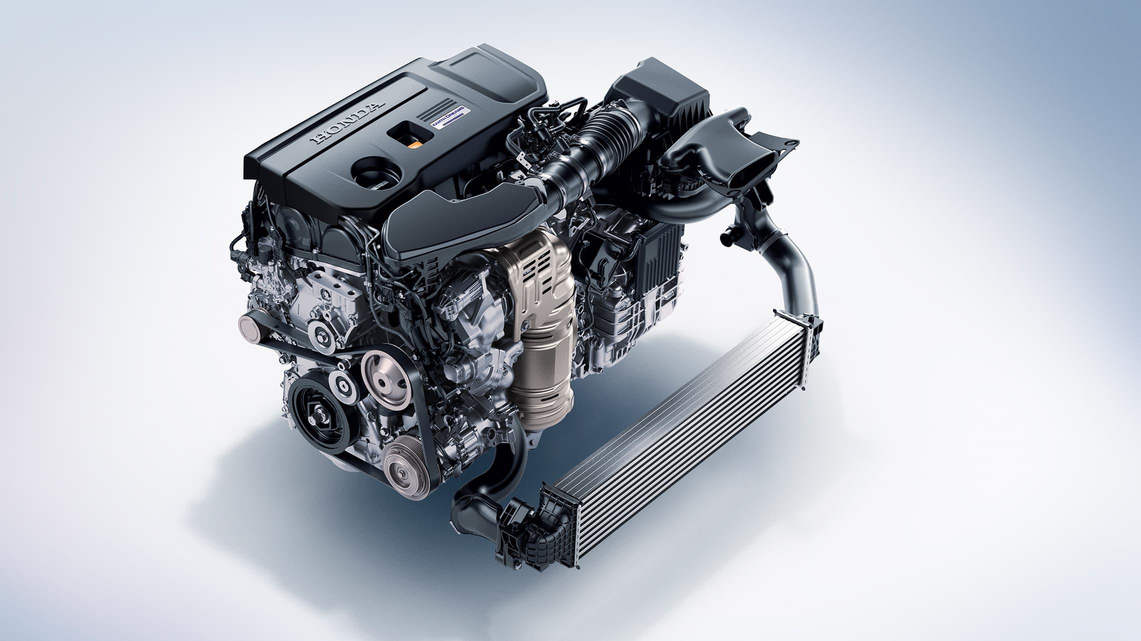 Detalle del motor turboalimentado de 2.0litros en el Honda Accord2020.