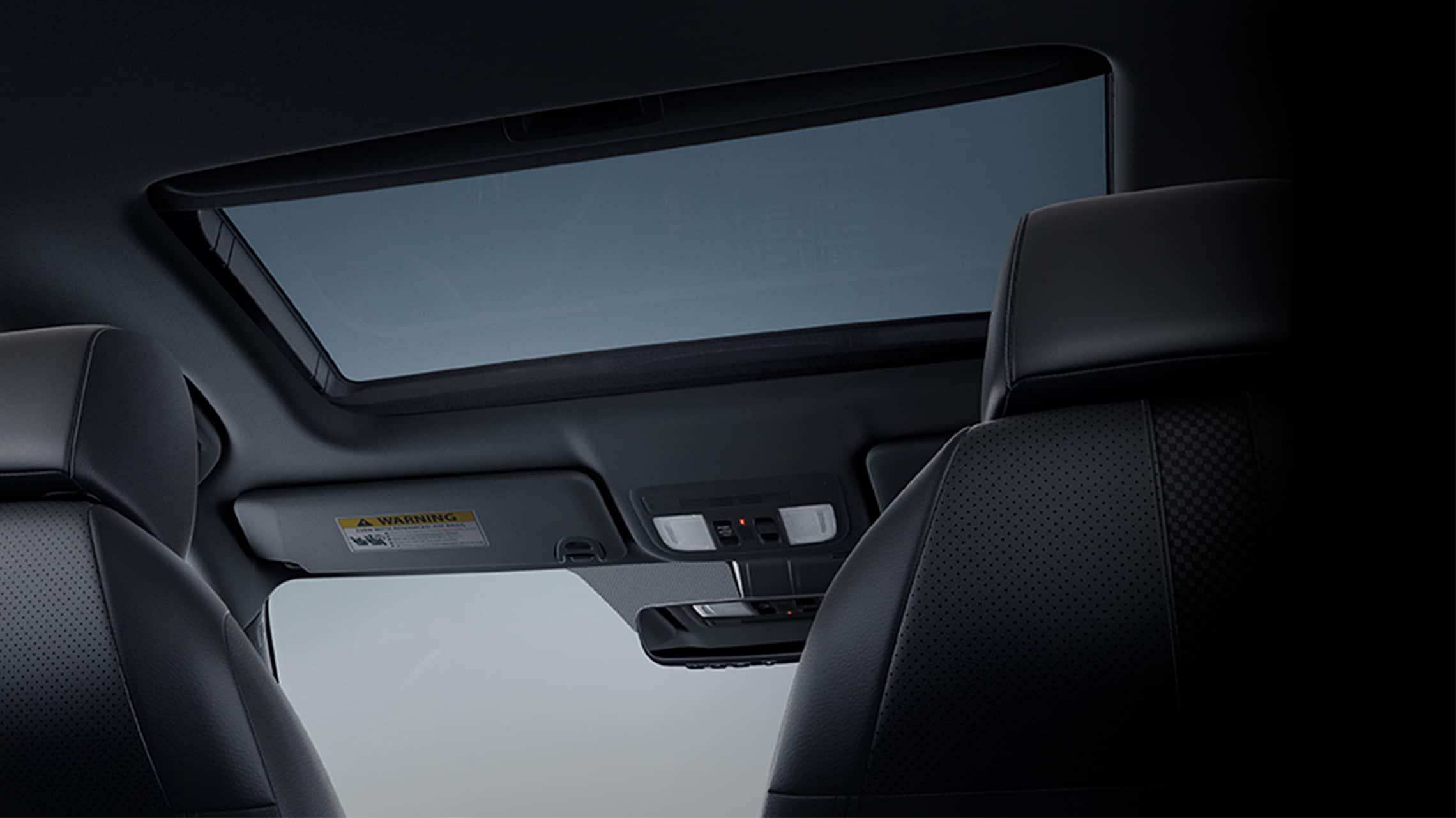Detalle del techo corredizo eléctrico opcional en el Honda Civic Sport Touring Hatchback 2021.