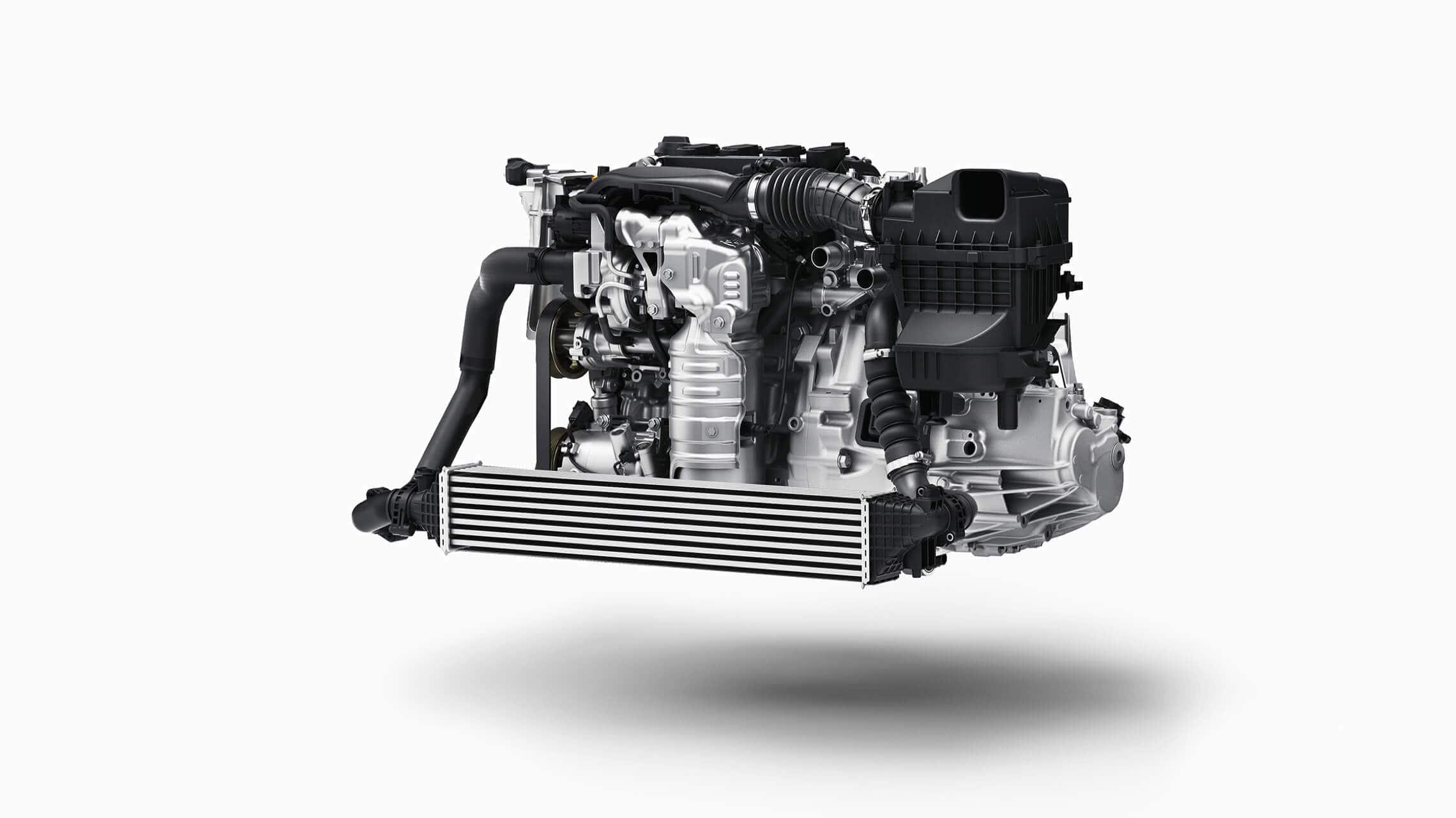 Detalle del motor en el Honda Civic Si Sedán2020.