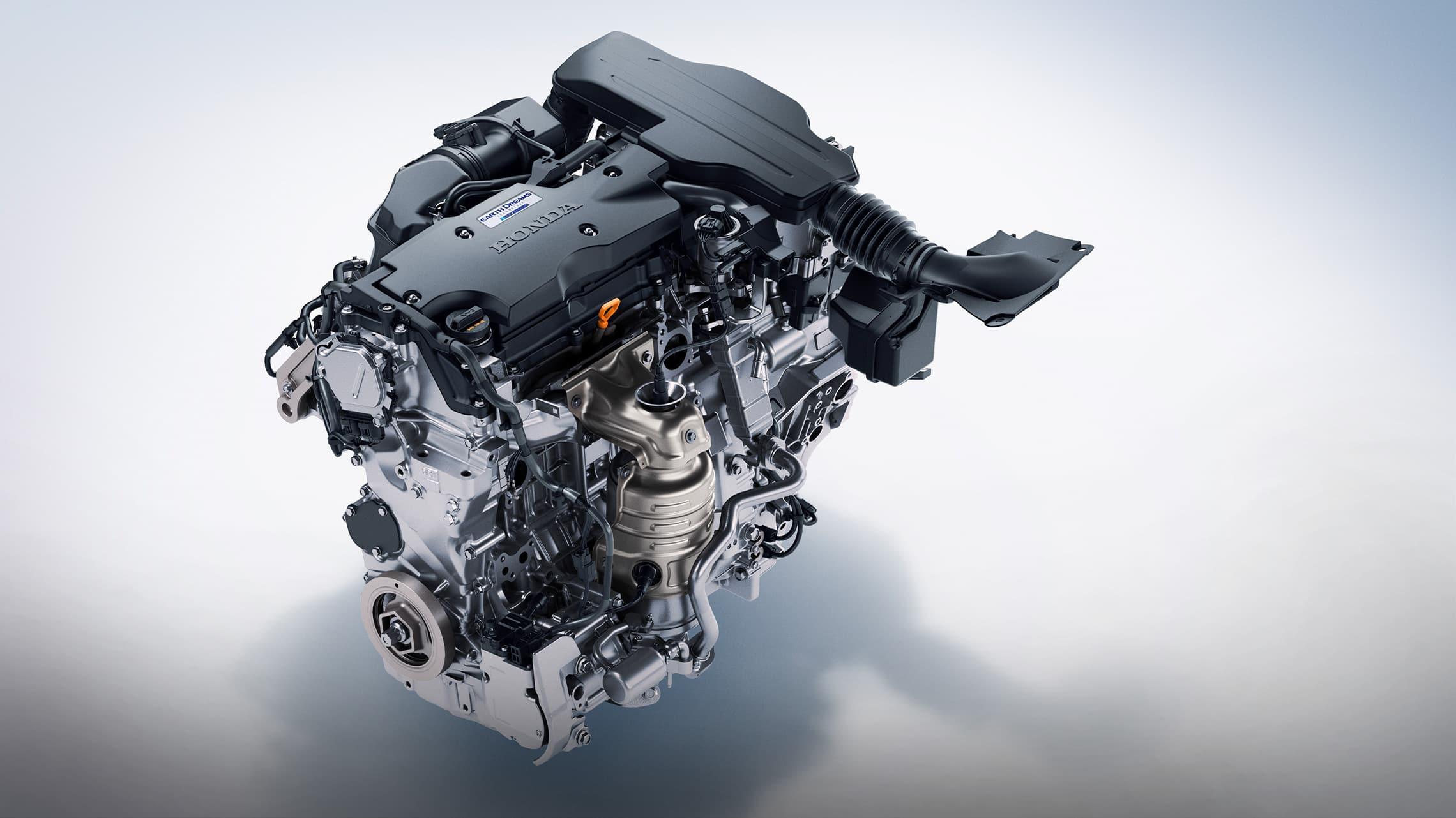 Detalle del motor híbrido en el HondaAccordHybrid2021.