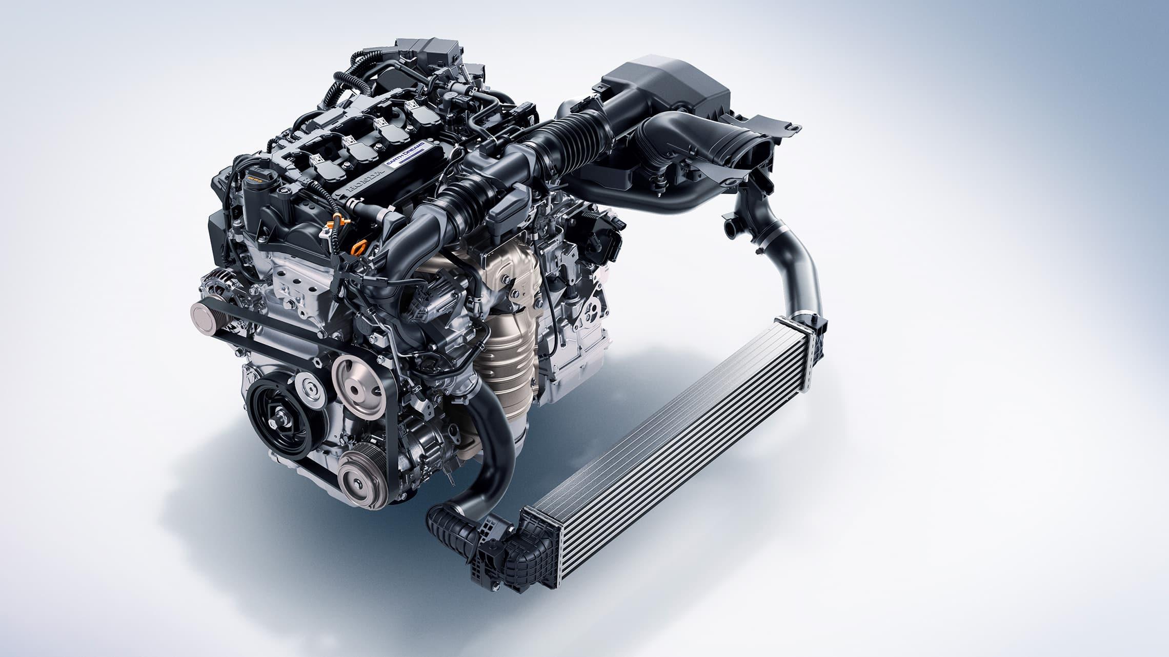 Detalle del motor turboalimentado de 1.5litros en el Honda Accord2021.
