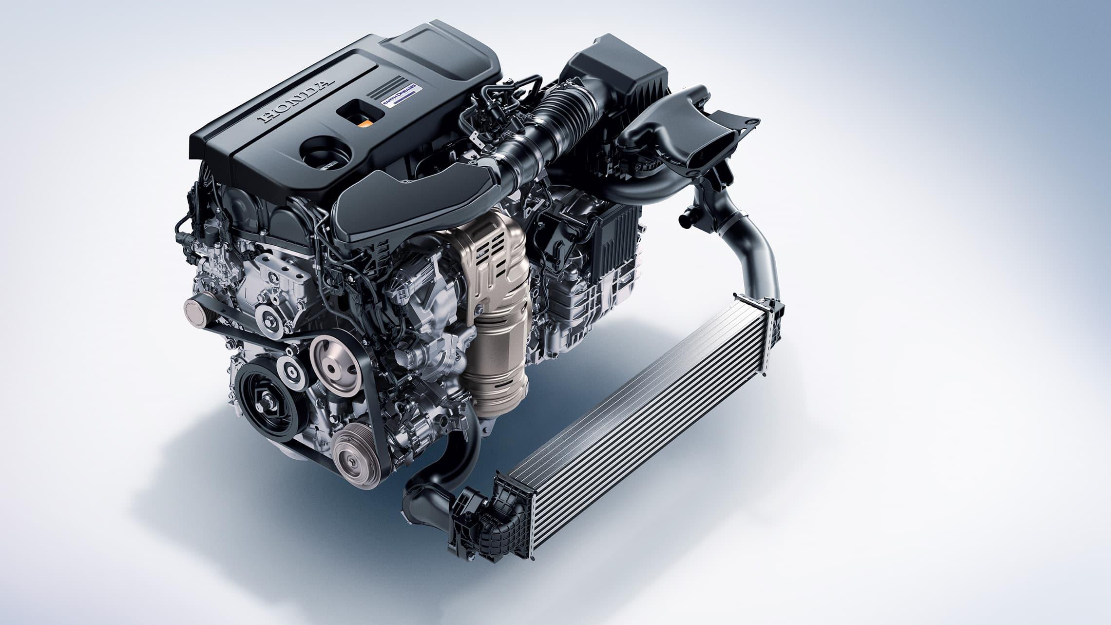 Detalle del motor turboalimentado de 2.0litros en el Honda Accord2021.