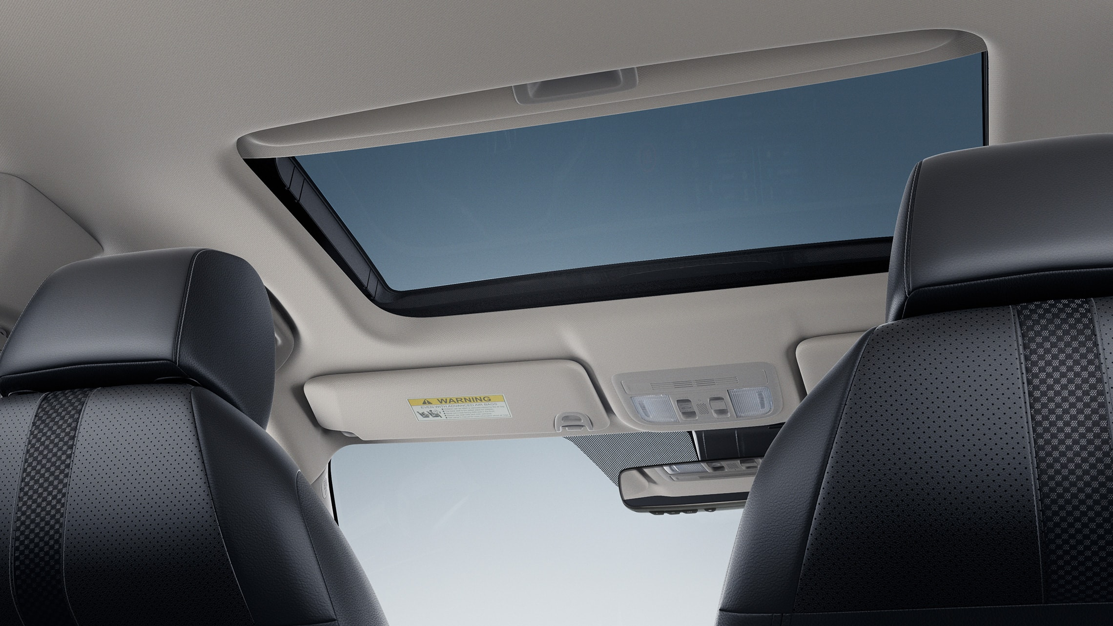 One-touch power moonroof detail in the 2021 Honda Civic Touring Sedan.